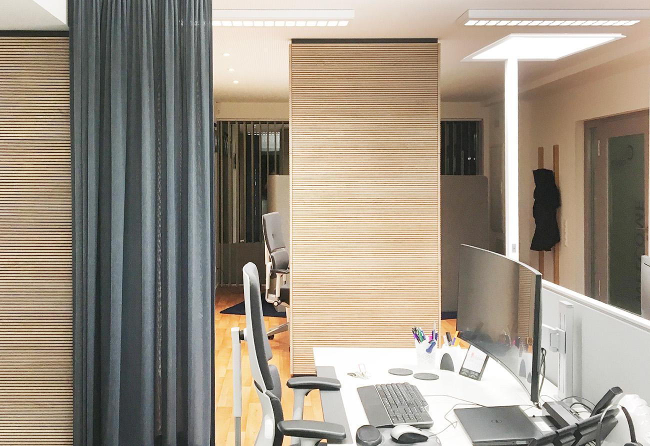 Büro-Gestaltung-Stoff