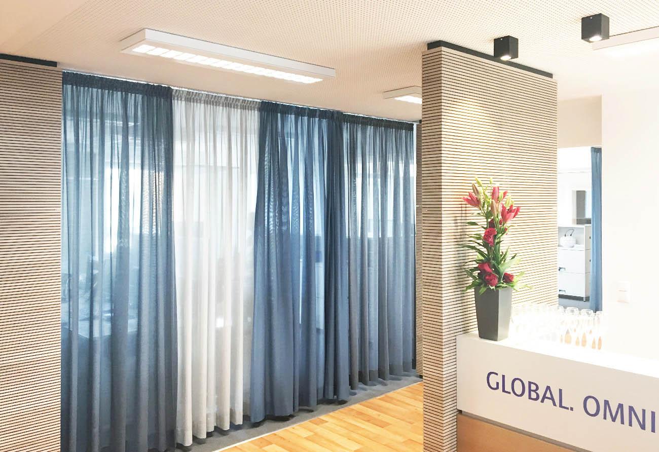 Vorhang-Stoff-Büro-Raumteiler