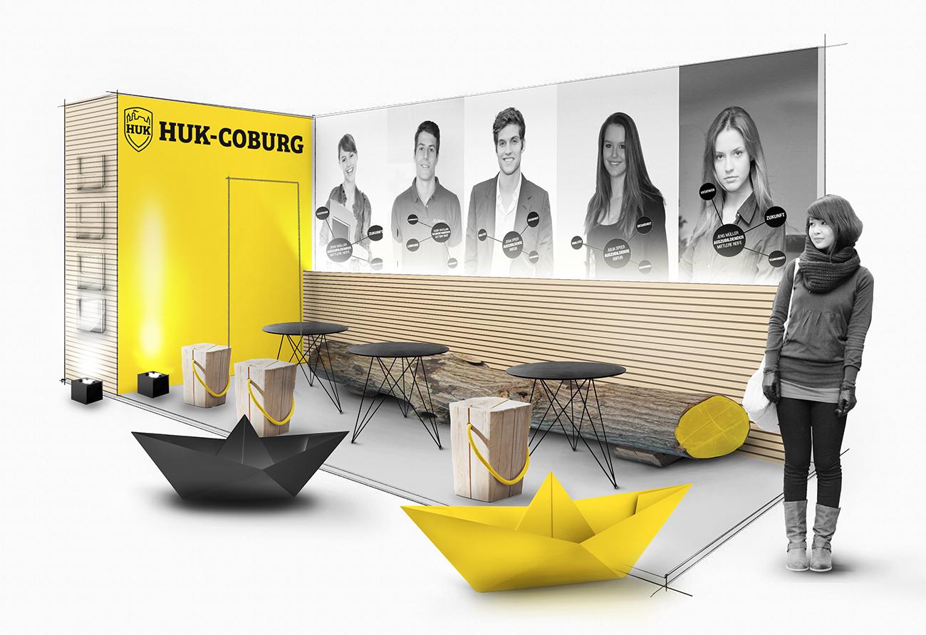 Entwurf Planung Messestand HUK Coburg Messe Innenarchitekt Leipzig
