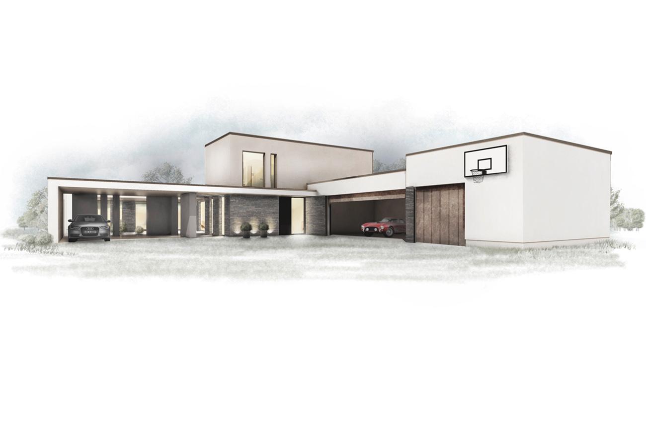 Zeichnung Entwurf Einfamilienhaus Architekturbüro Leipzig Sachsen
