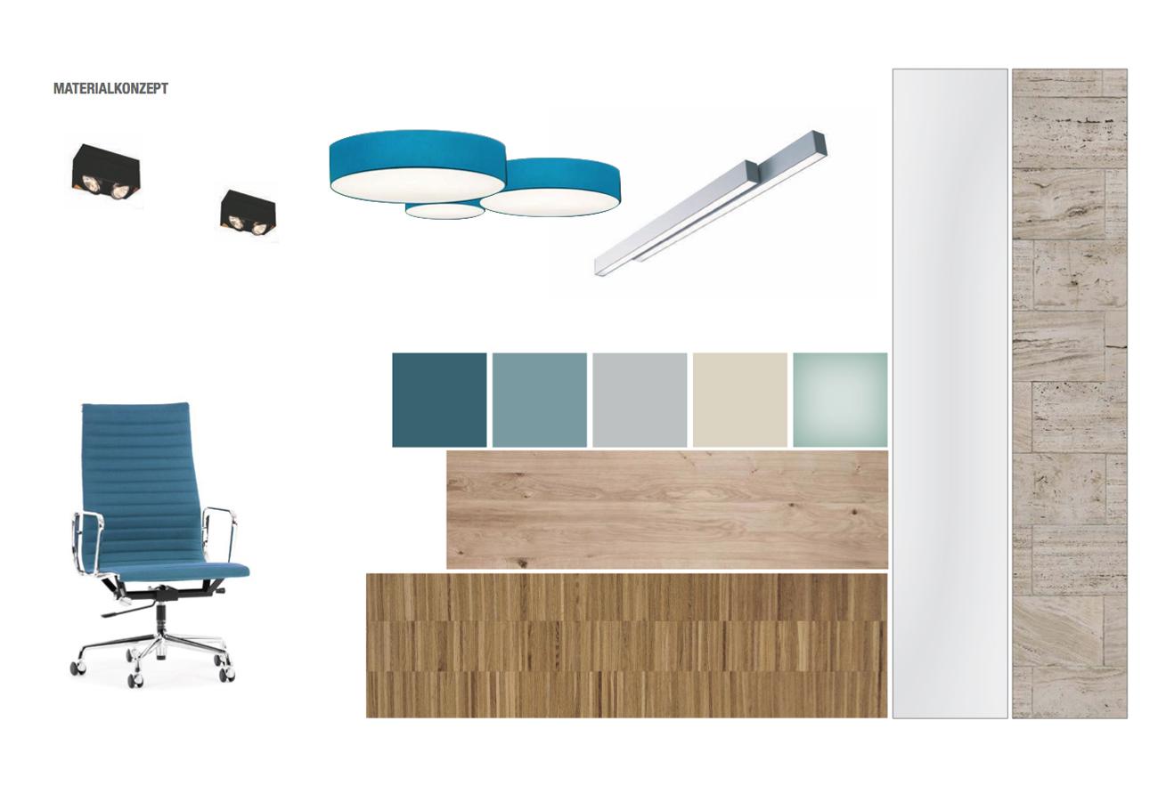 Materialcollage Nöbelcollage Büro Innenarchitektur Leipzig