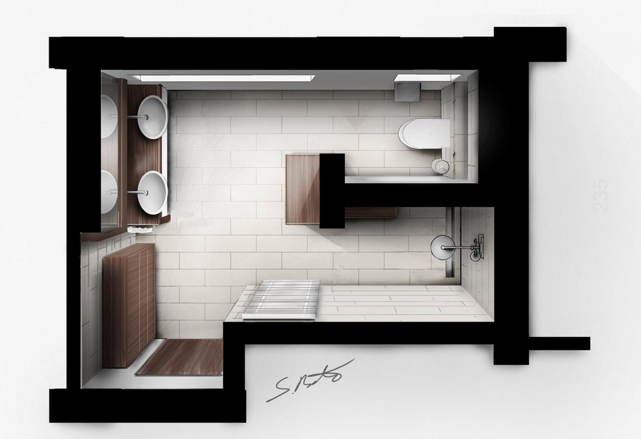 Bad-3-D-Design-Innenarchitektur
