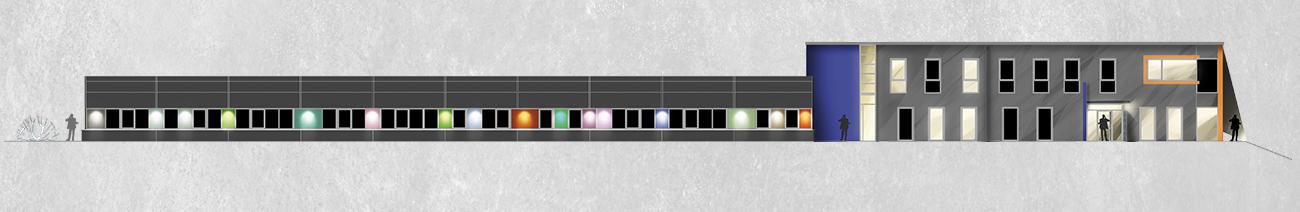 Zeichnung Fassade Lichtkonzept Innenarchitektur Leipzig