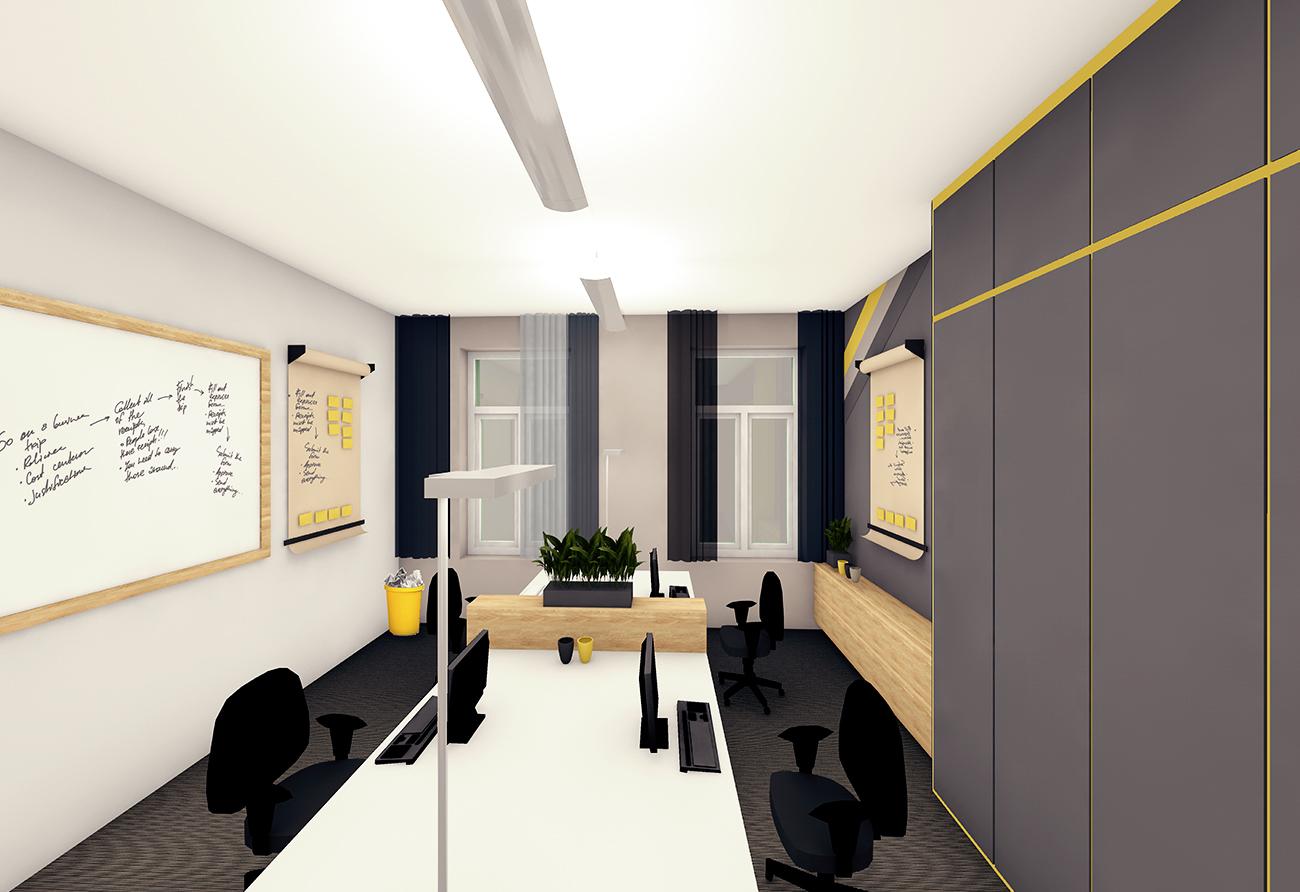 Büroplanung Arbeitsplatz Konferenzraum Licht Planung Innenarchitektur Leipzig