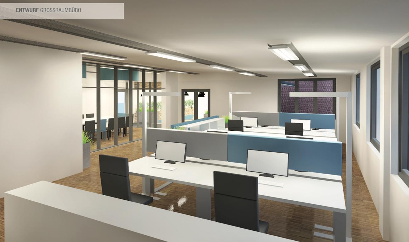 Nutzungskonzept Büroumbau • Planung von Büroräumen• Büroplanung