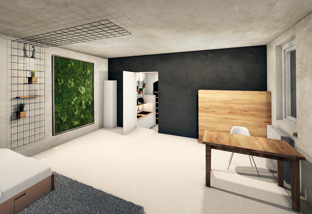 Umbau Galerie Loft Penthouse Grundriss zeichnen Innenarchitekt Leipzig