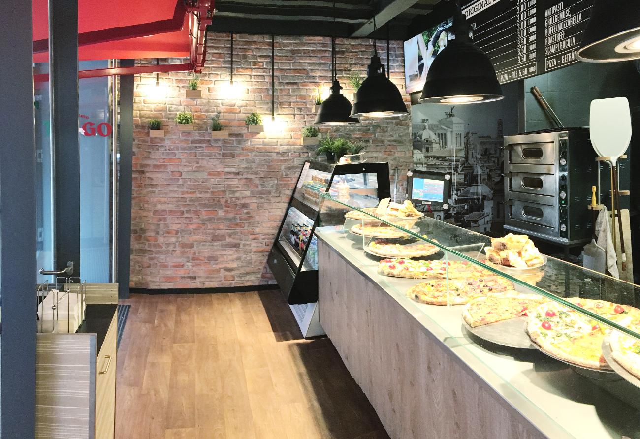 Gastronomie Pizzeria Umbau Innenarchitektur Leipzig