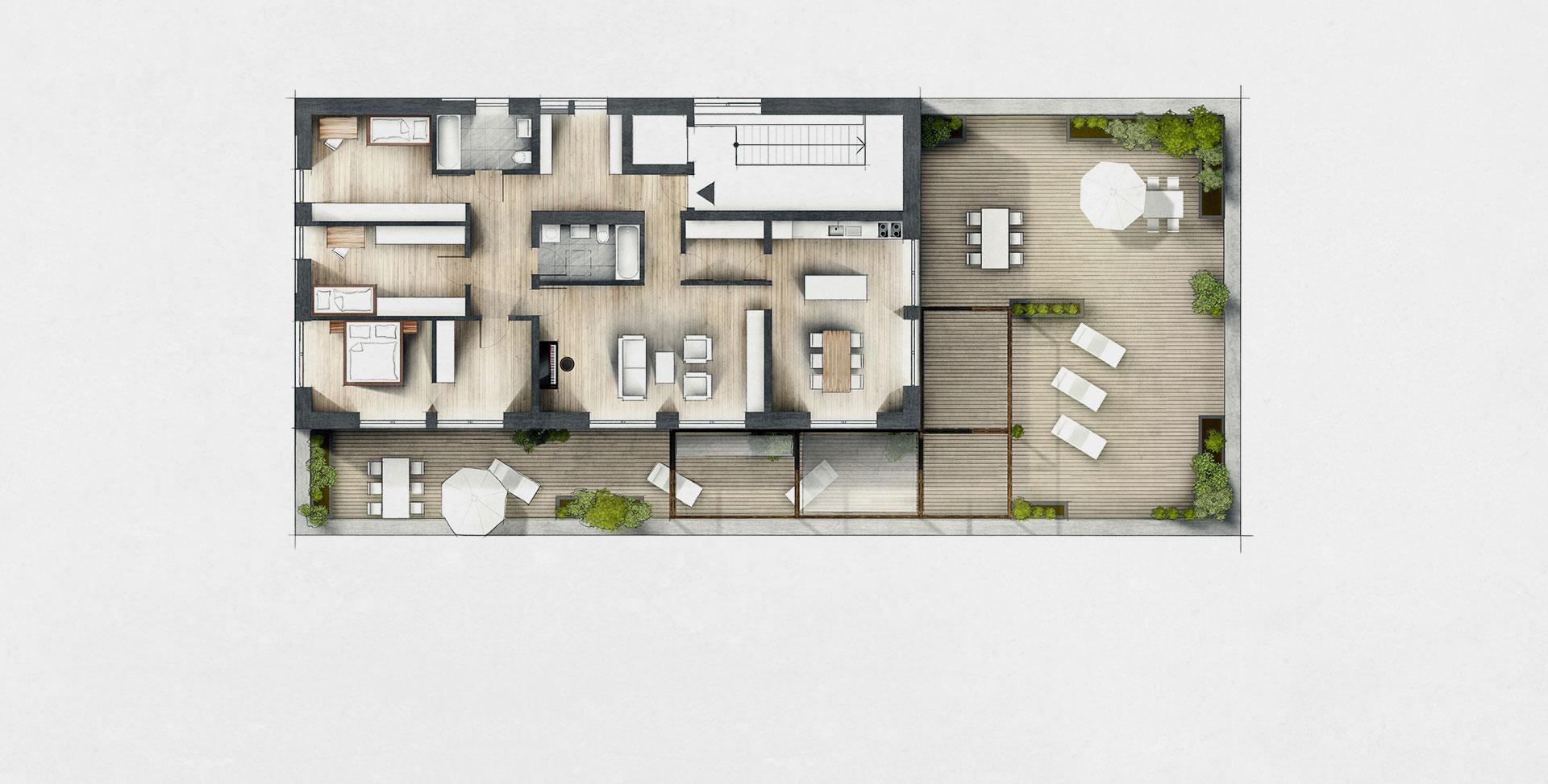 Grundrissoptimierung 360 Grad Panorama Leipzig Innenarchitek