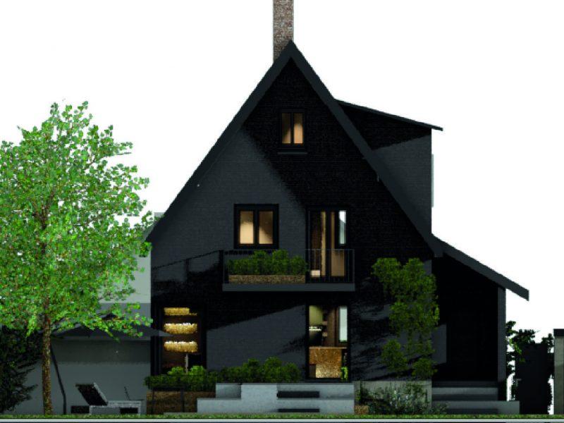 Modernisierung Wohnhaus Schwarzes Holzhaus Leipzig Innenarchitektur